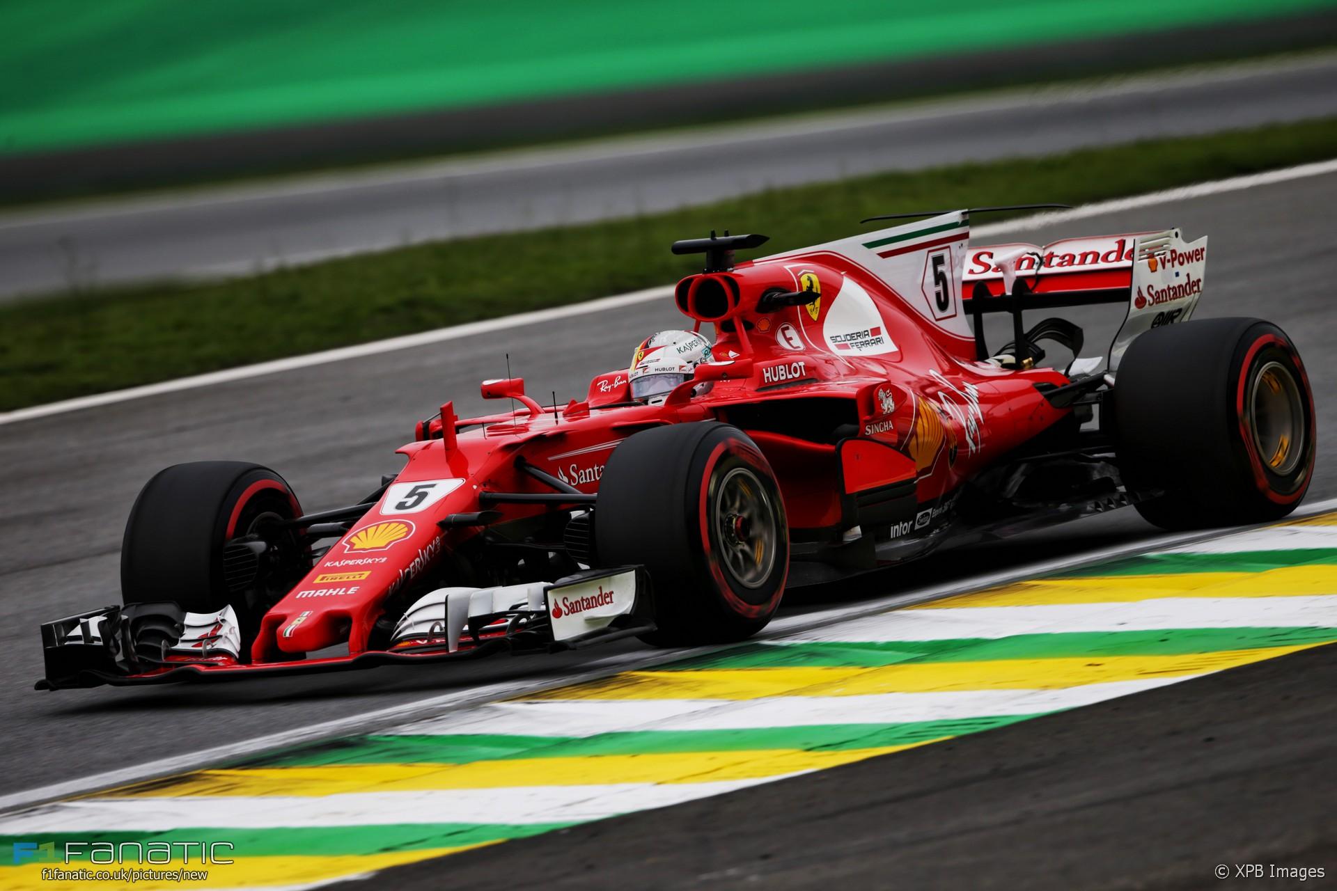 Sebastian Vettel, Ferrari, Interlagos, 2017