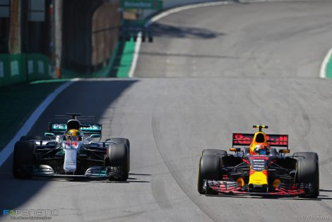 Lewis Hamilton, Max Verstappen, Interlagos, 2017