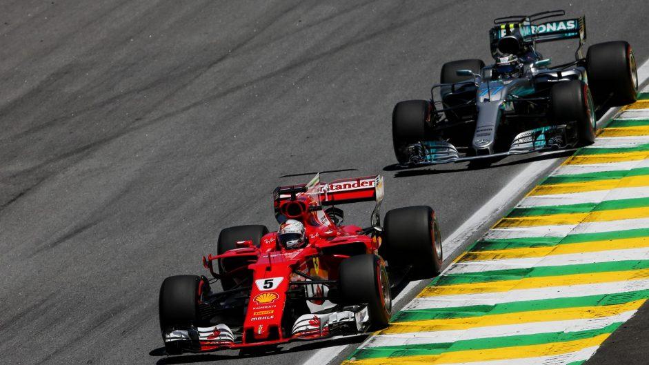 Vettel puts Ferrari back on top as Mercedes slip up