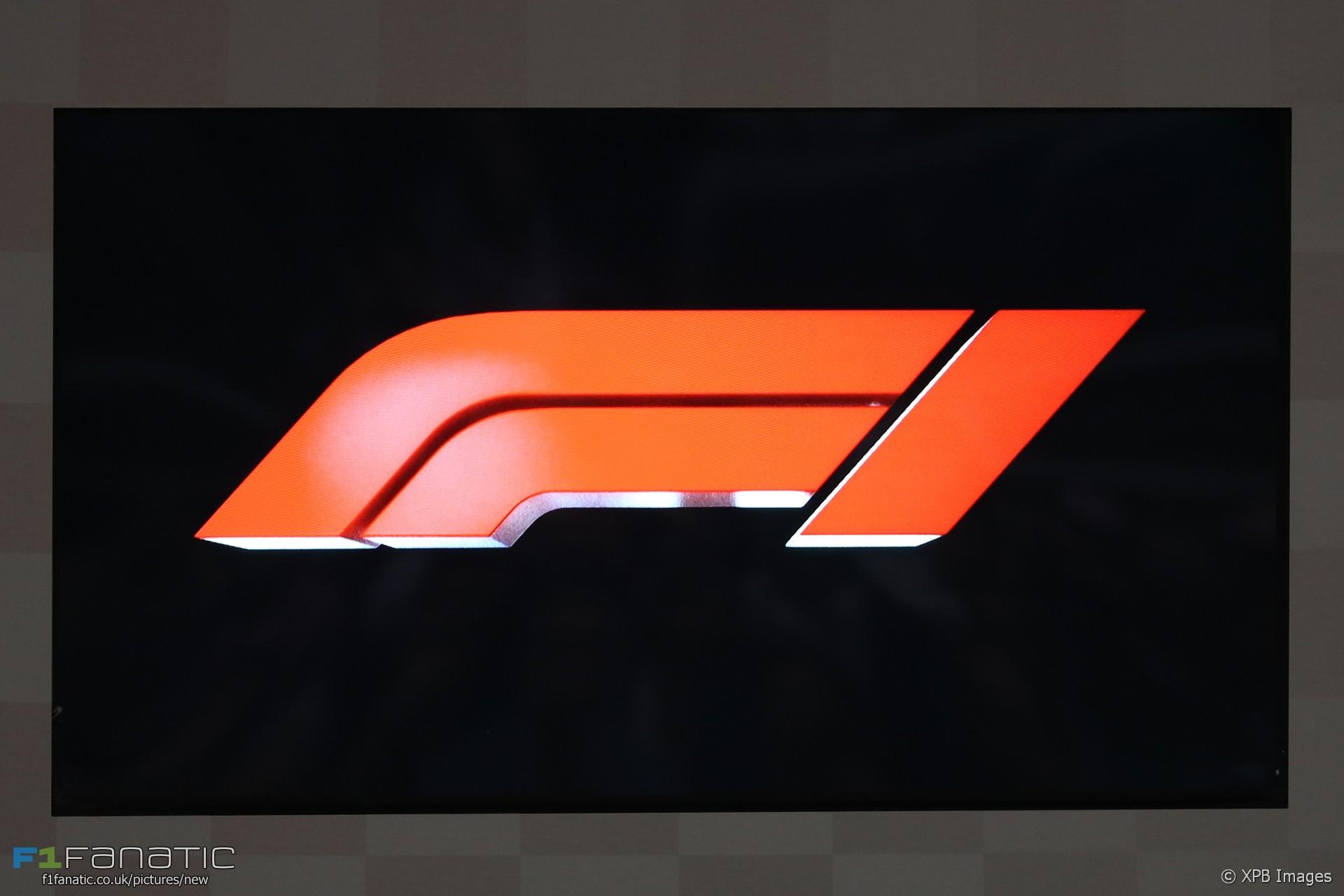 New F1 logo, Yas Marina, 2017