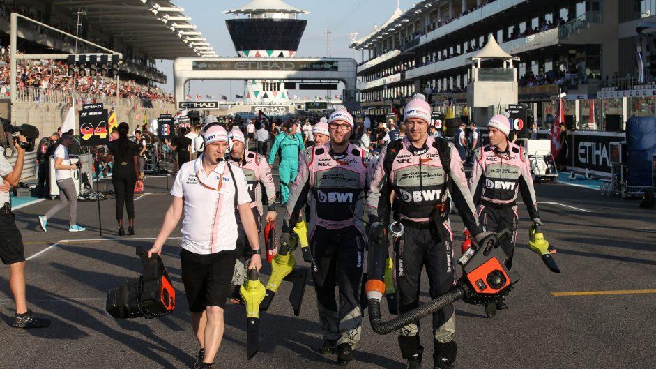 Force India, Yas Marina, 2017