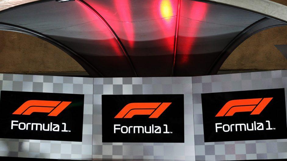 New F1 logo on the podium, Yas Marina, 2017