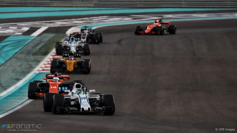 2017 Abu Dhabi Grand Prix tyre strategies and pit stops