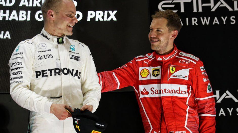 Valtteri Bottas, Sebastian Vettel, Yas Marina, 2017