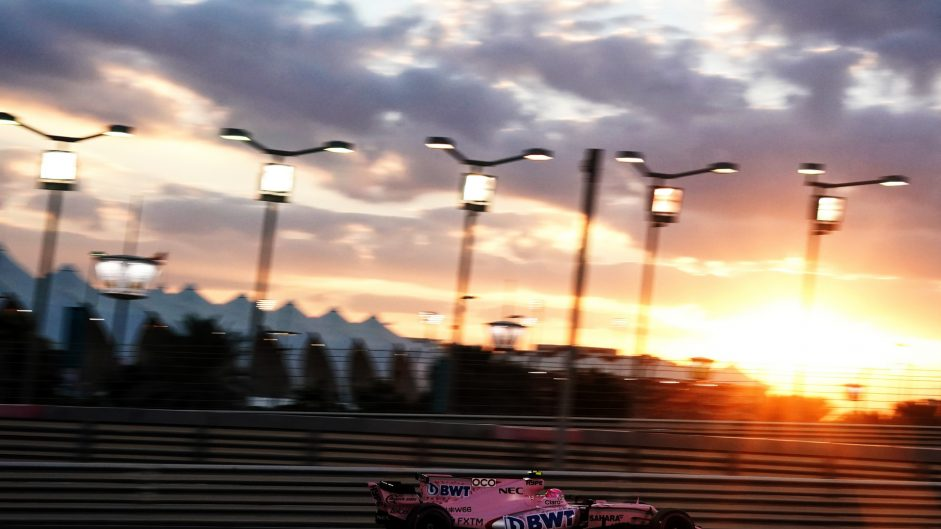 Esteban Ocon, Force India, Yas Marina, 2017