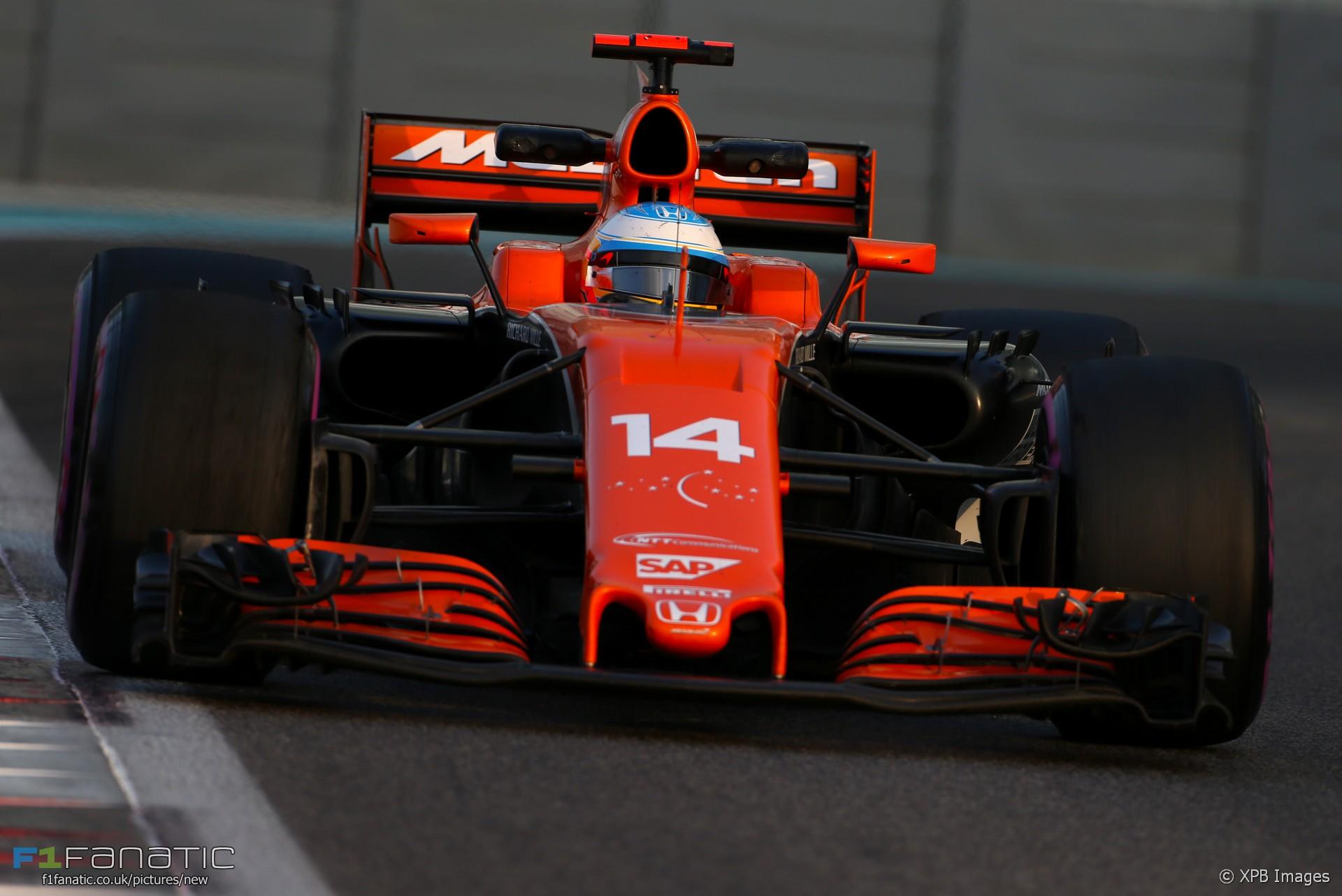 Fernando Alonso Mclaren Yas Marina 2017 F1 Fanatic