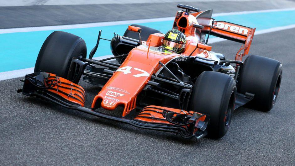 Lando Norris, McLaren, Yas Marina, 2017