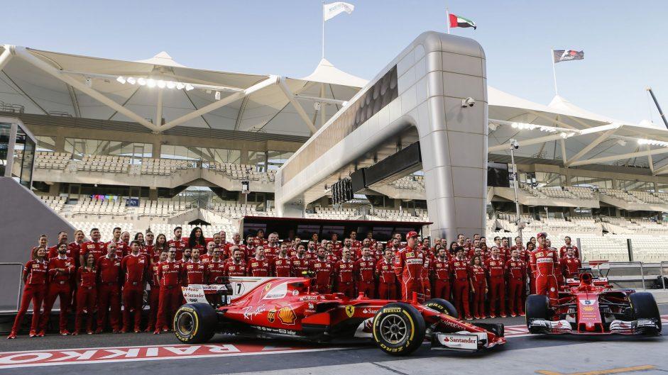 Ferrari team photo, Yas Marina, 2017