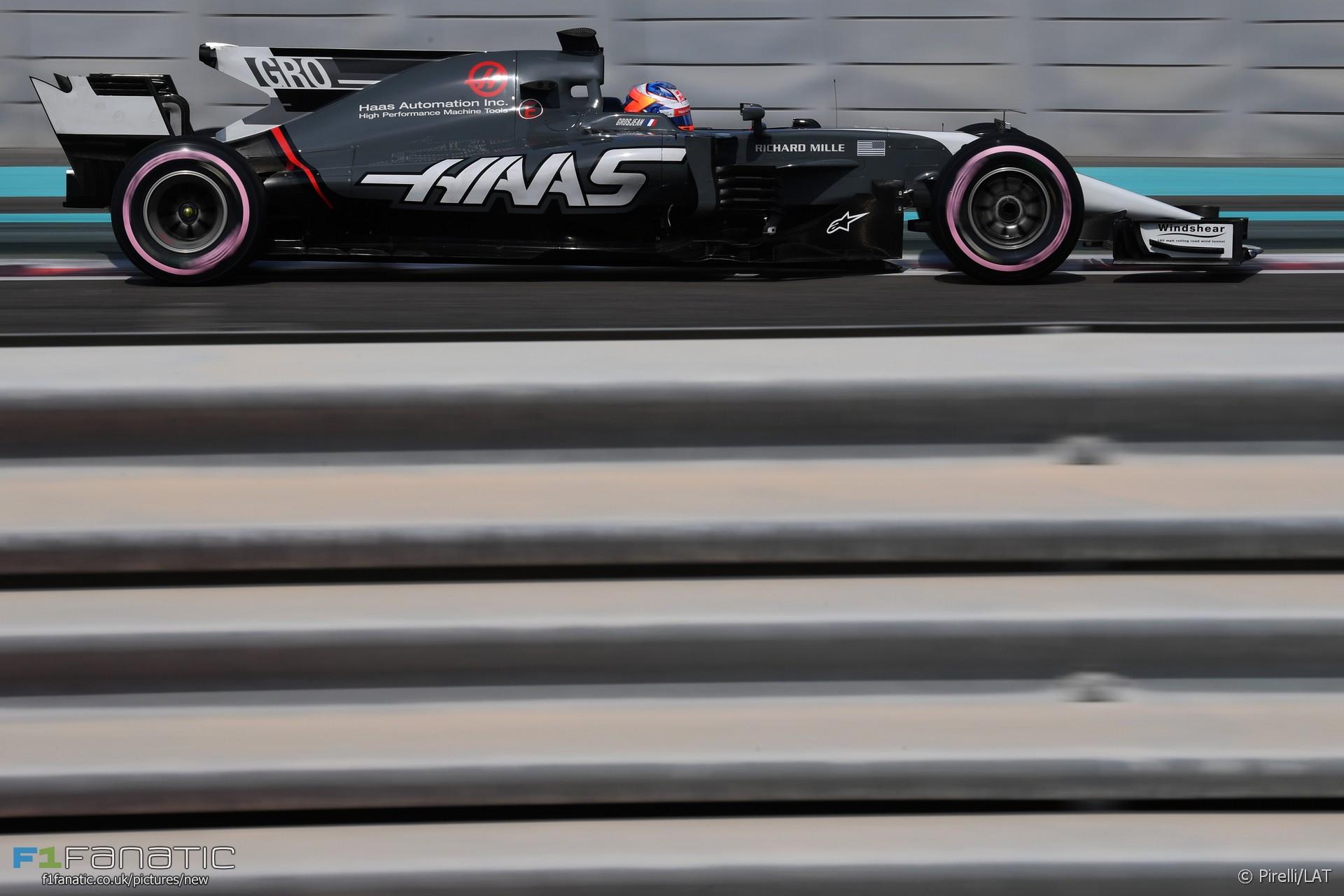 Romain Grosjean, Haas, Yas Marina, 2017