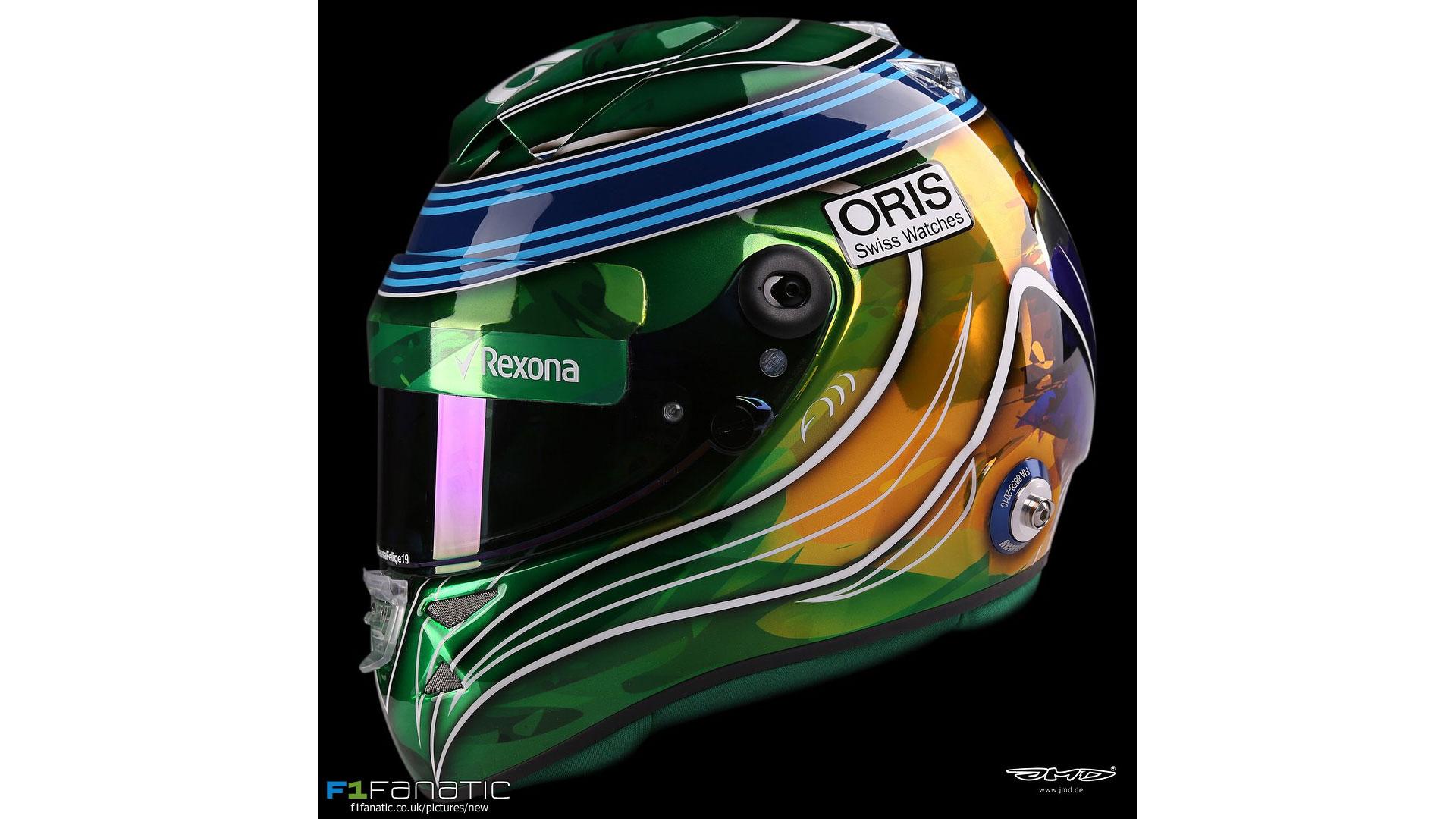 Felipe Massa helmet, Yas Marina, 2017