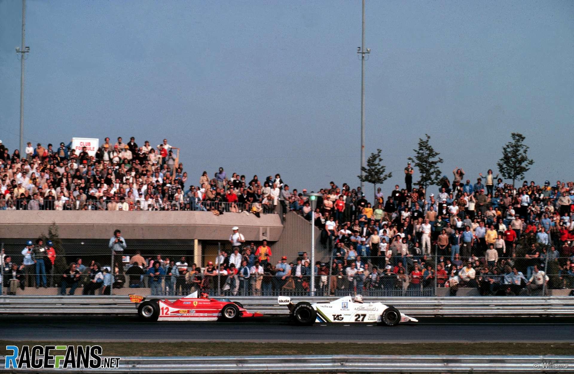 Gilles Villeneuve, Alan Jones, Montreal, 1979