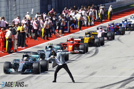 Usain Bolt, grid, Circuit of the Americas, 2017