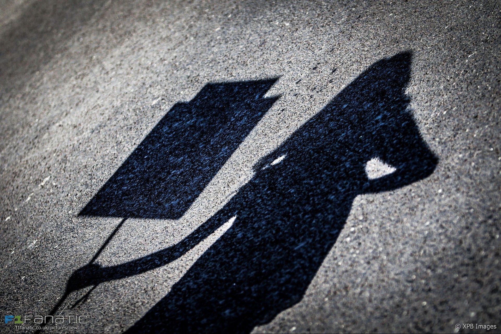 Grid girl shadow, Monza, 2017
