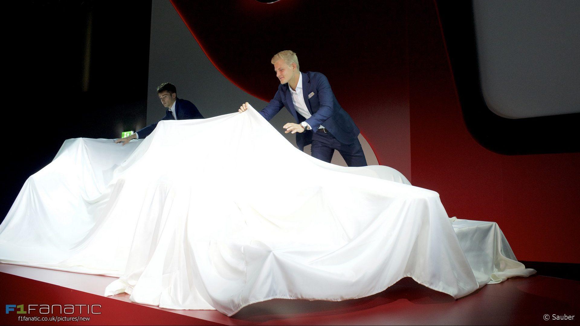 Charles Leclerc, Marcus Ericsson, Sauber Alfa Romeo livery launch, 2017