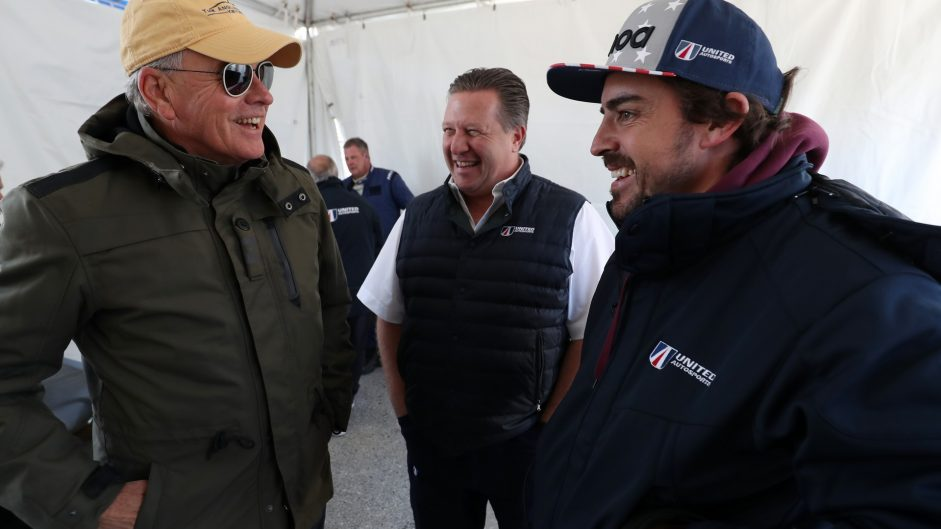 Jim France, Fernando Alonso, Zak Brown, United Autosports, Daytona, 2018