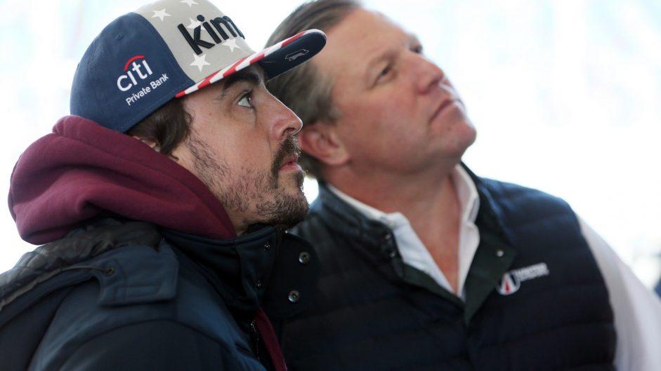 Fernando Alonso, Zak Brown, United Autosports, Daytona, 2018