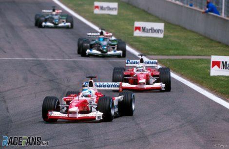 Mika Salo, Toyota, Circuit de Catalunya, 2002