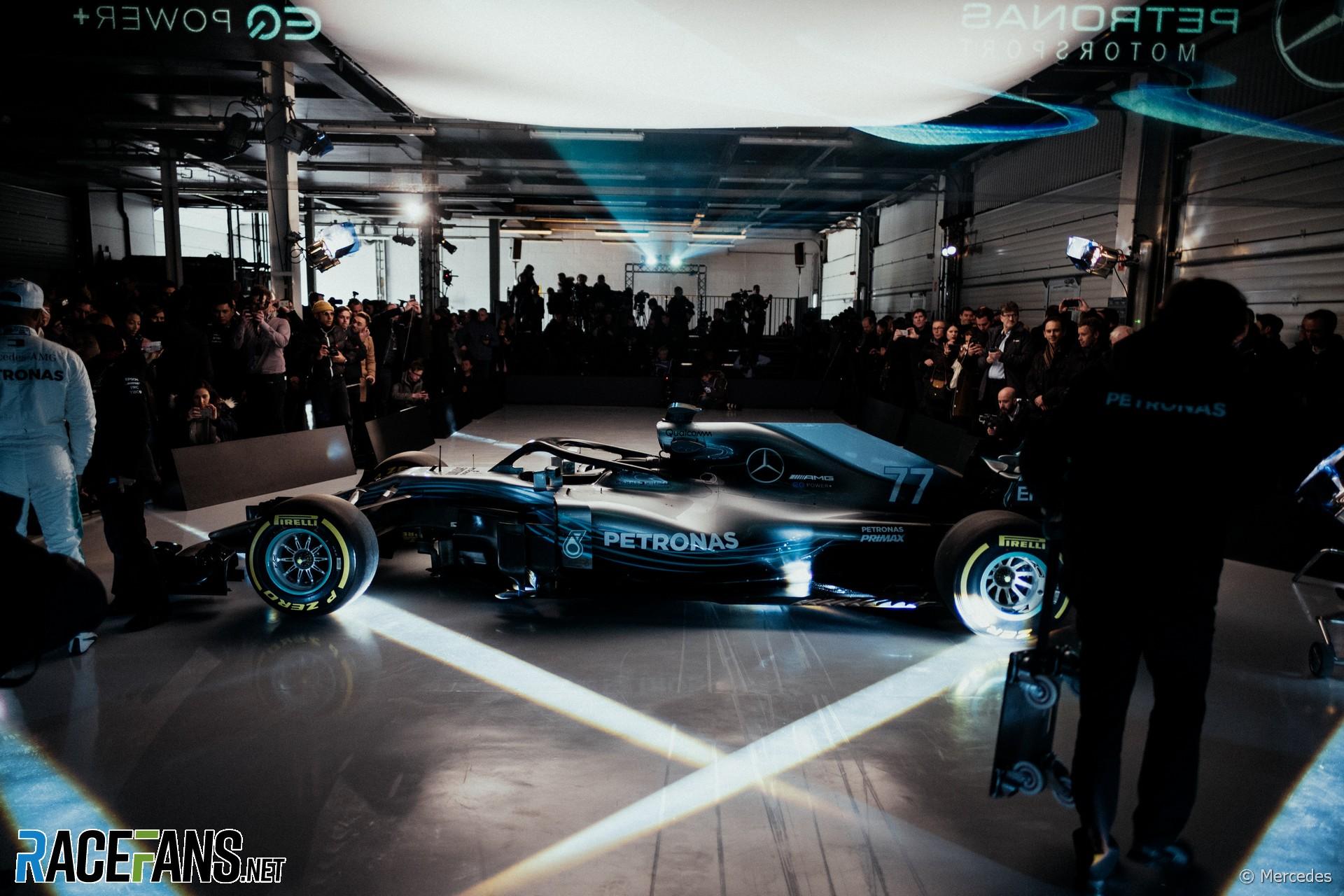 Mercedes W09 launch, Silverstone, 2018