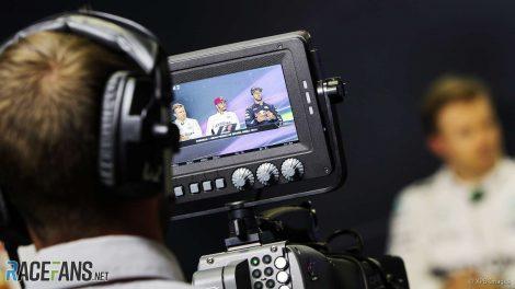 F1 television camera, 2017
