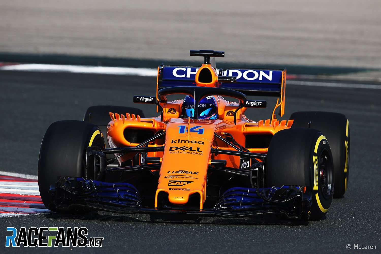 Fernando Alonso, McLaren, 2018 · RaceFans