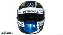 Valtteri Bottas helmet, Mercedes, 2018