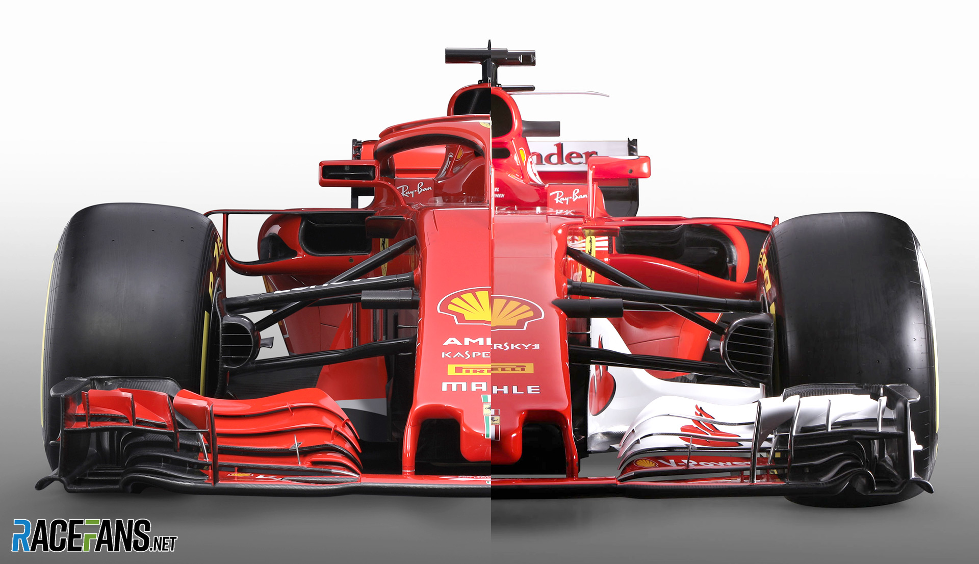 interactive compare ferrari 39 s new 2018 f1 car with last year 39 s racefans. Black Bedroom Furniture Sets. Home Design Ideas