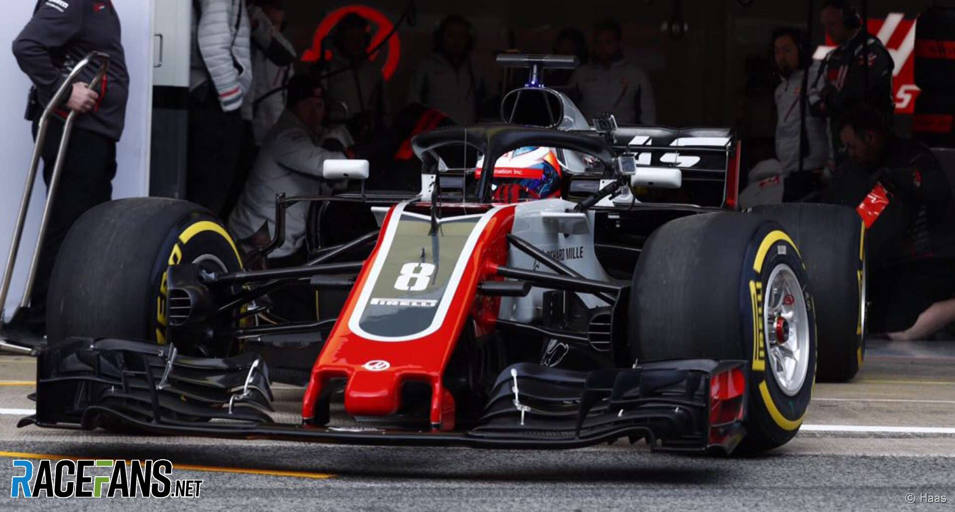 Romain Grosjean, Haas, Circuit de Catalunta, 2018