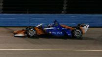 Scott Dixon, IndyCar windscreen test, Phoenix, 2018