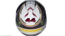 Lewis Hamilton helmet, Mercedes, 2018