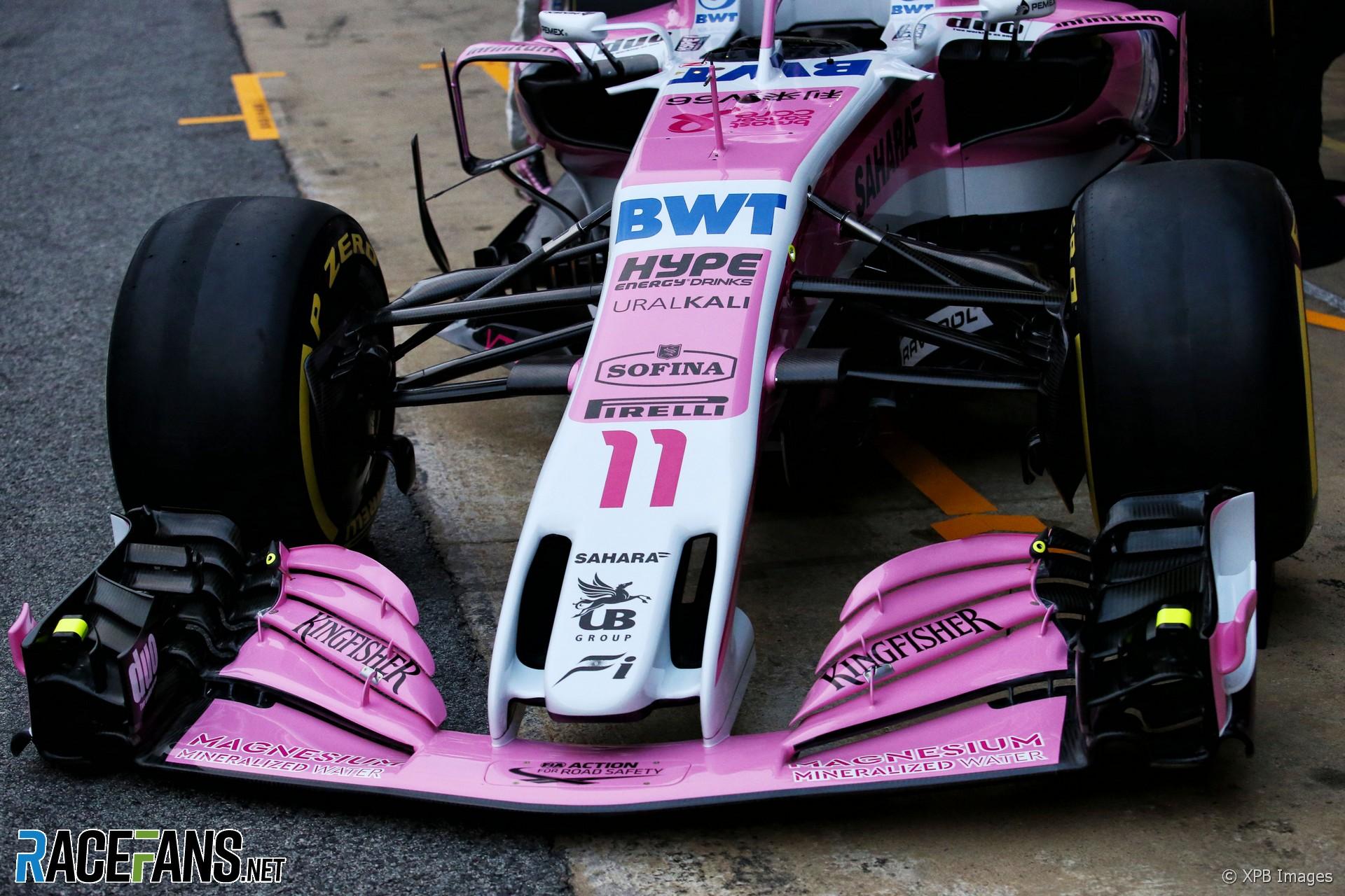 Force India, Circuit de Catalunya, 2018