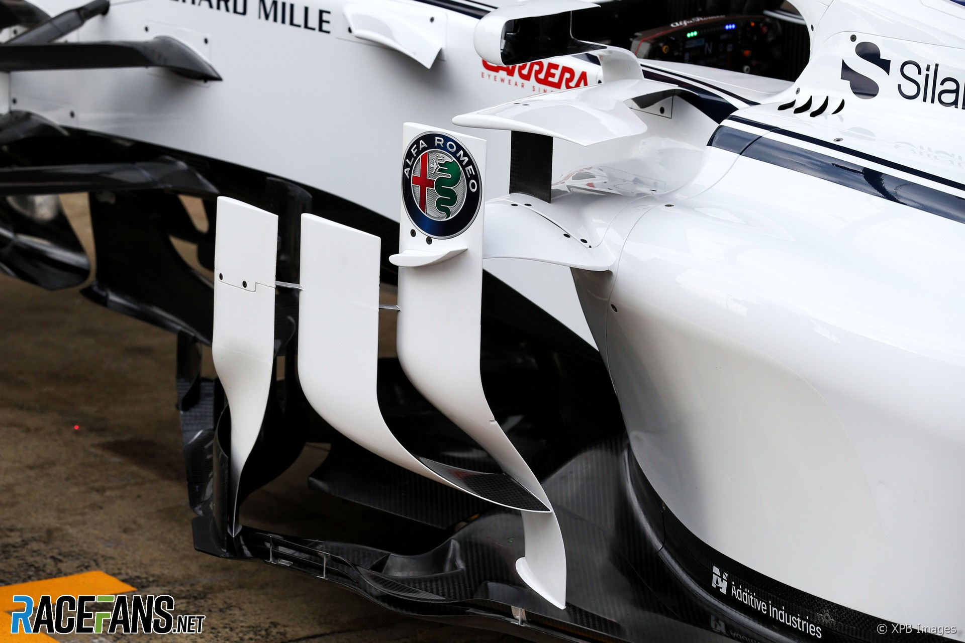 Sauber C37 sidepod, Circuit de Catalunya, 2018
