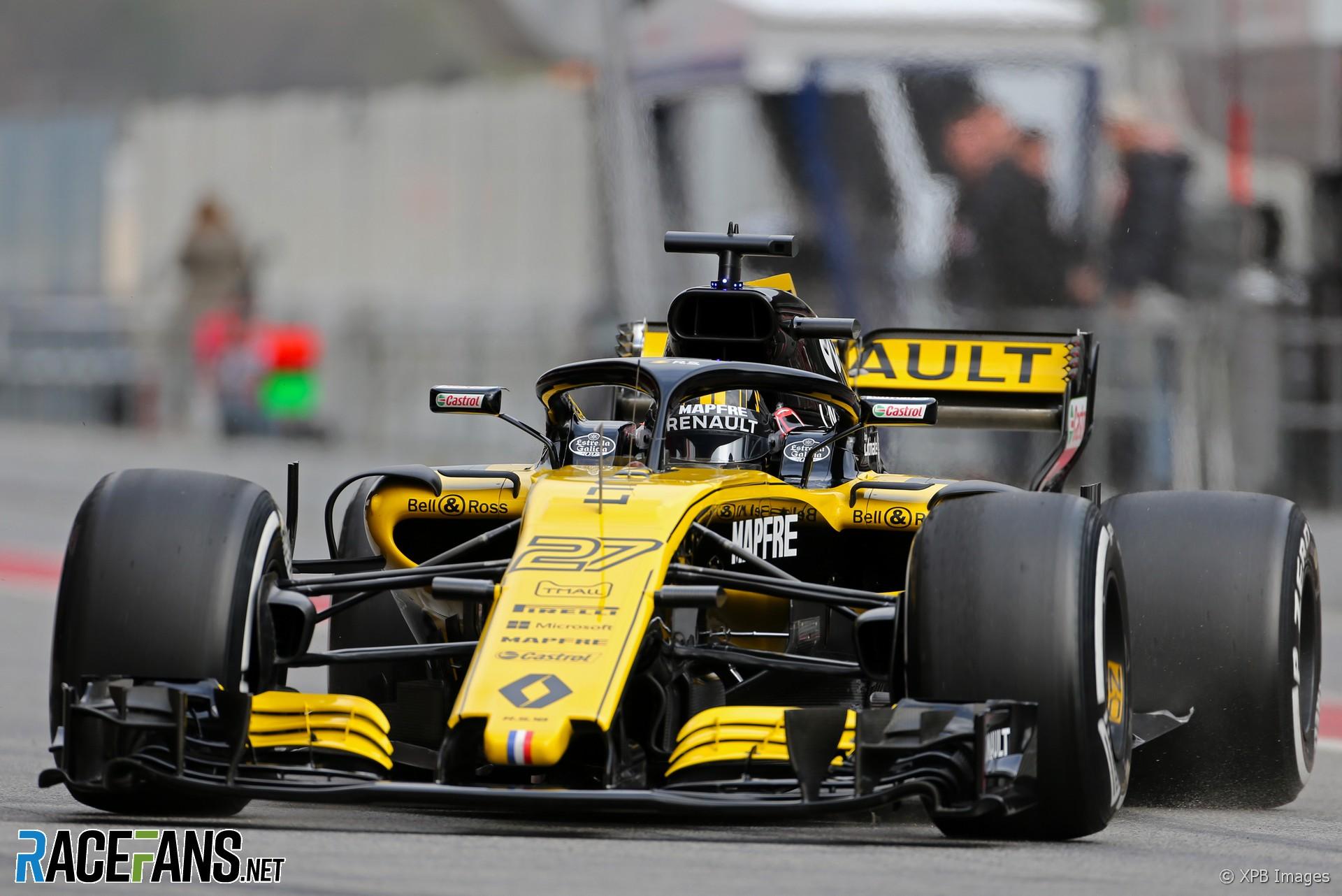 Nico Hulkenberg, Renault, Circuit de Catalunya test, Monday 26th February, 2018