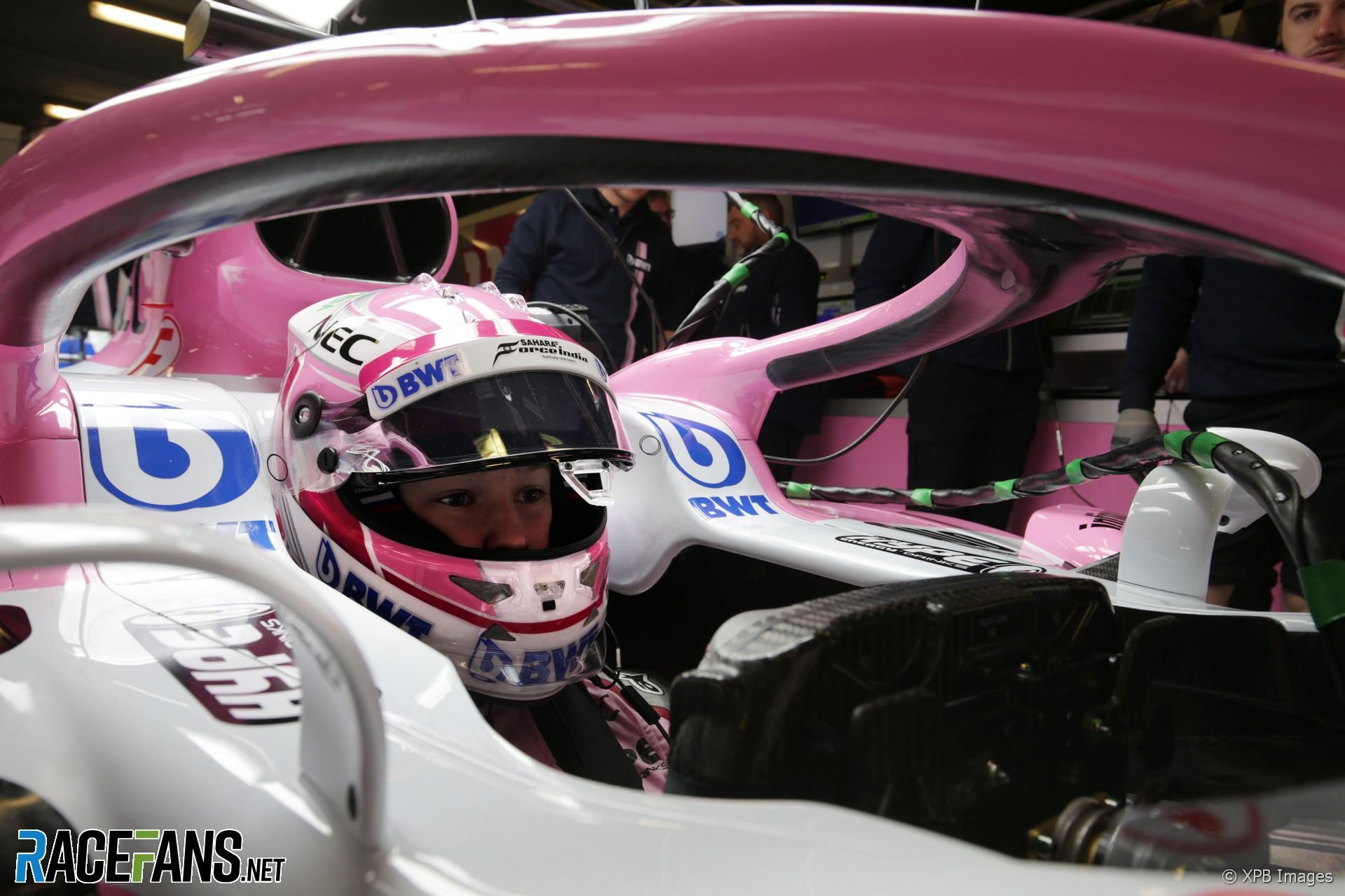 Nikita Mazepin, Force India, Circuit de Catalunya, 2018