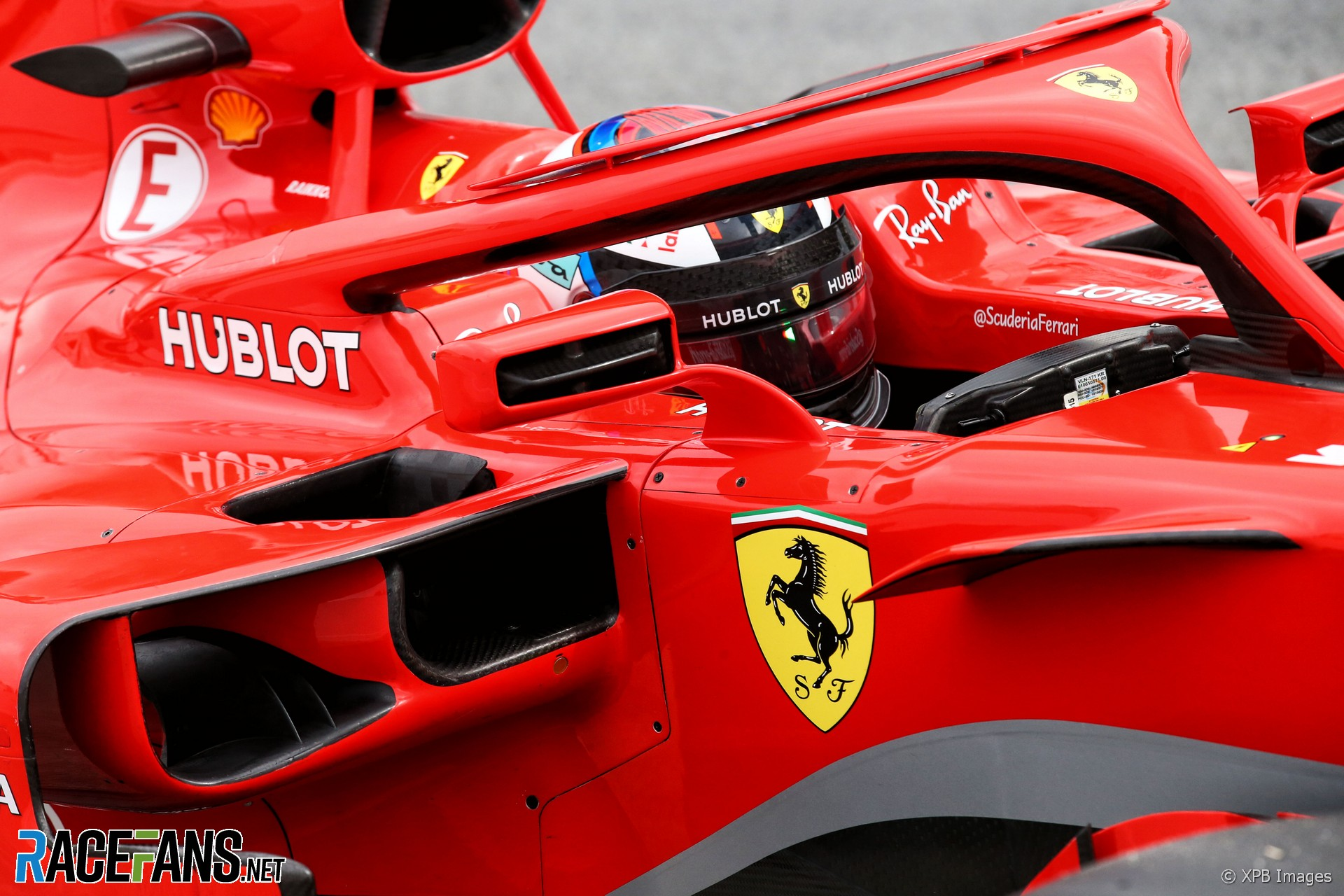 Ferrari SF71H wing mirror, Circuit de Catalunya, 2018