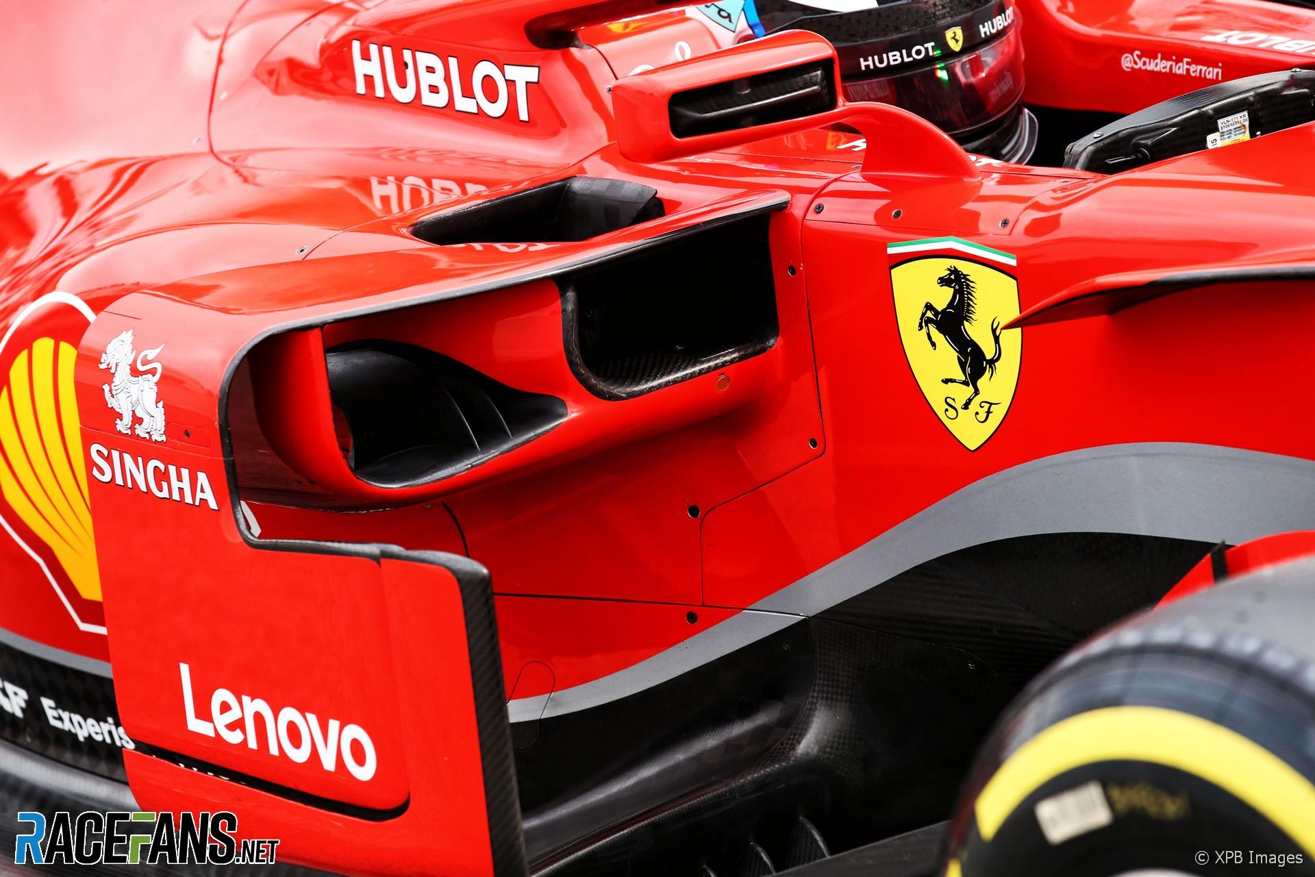 Ferrari SF71H sidepod, Circuit de Catalunya, 2018