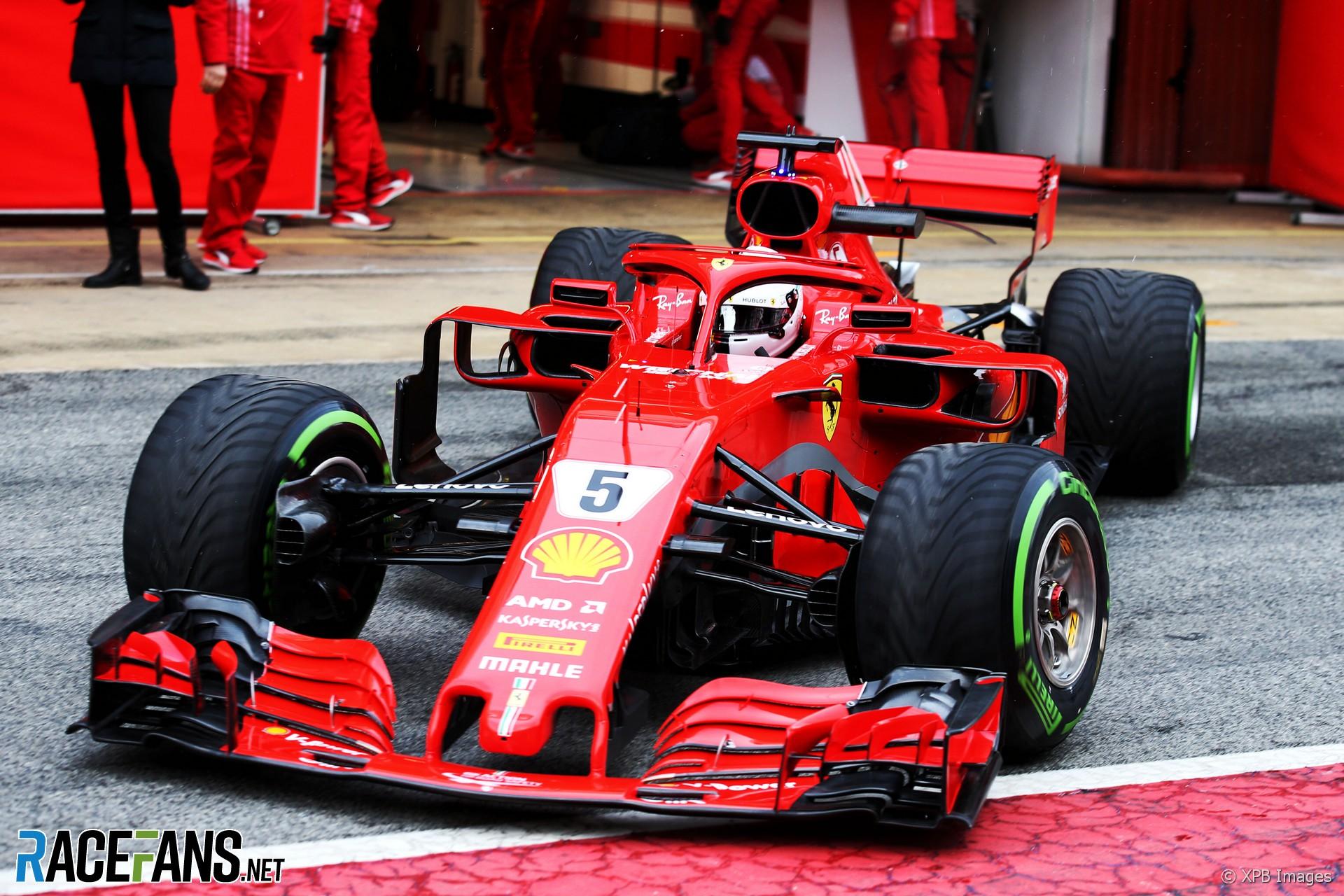Sebastian Vettel Ferrari Circuit De Catalunya 2018