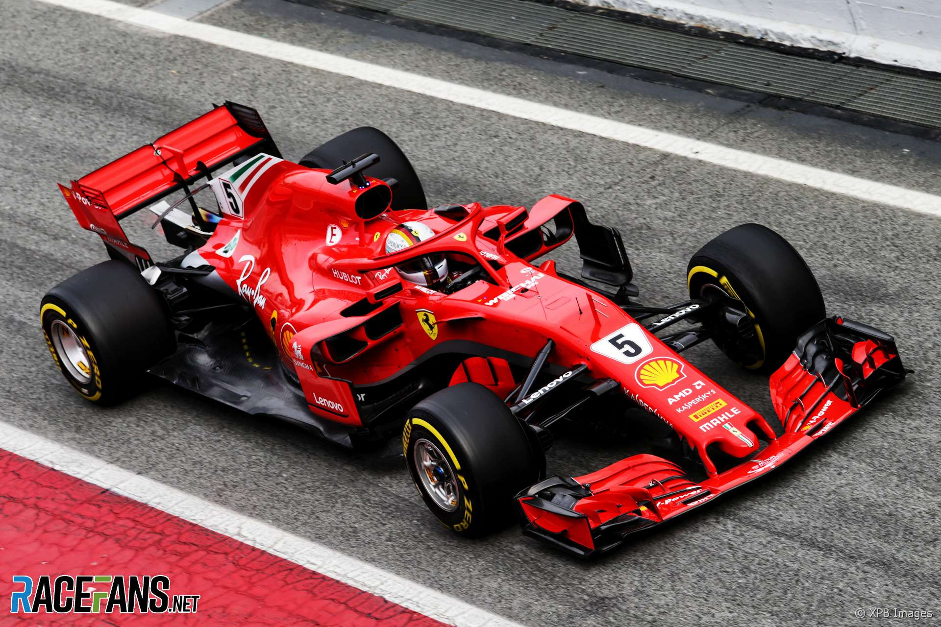 vettel senses progress after very cold first day in new ferrari racefans. Black Bedroom Furniture Sets. Home Design Ideas