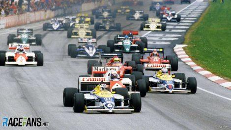 Start, Imola, 1986 San Marino Grand Prix
