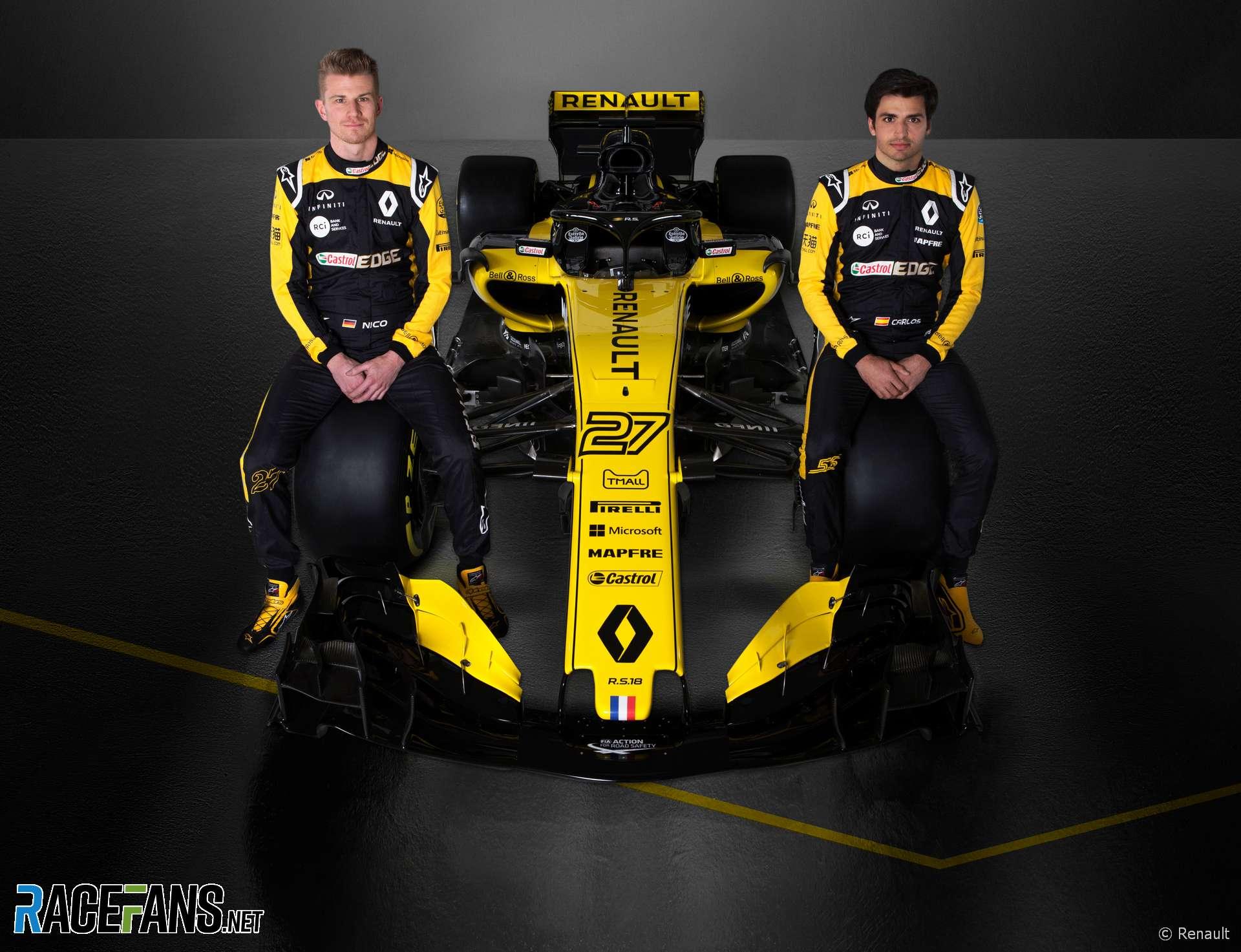 Nico Hulkenberg, Carlos Sainz Jnr, Renault, 2018