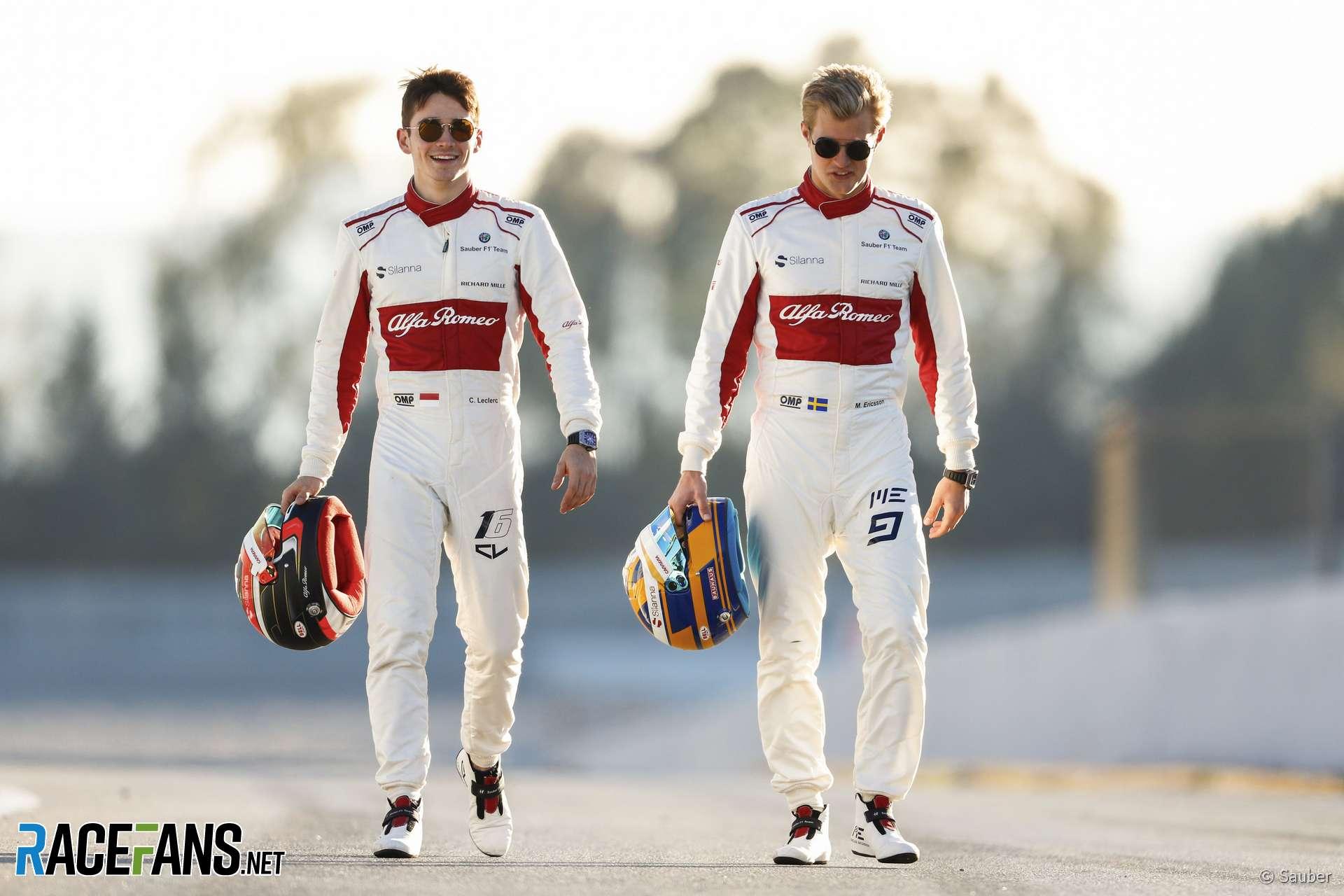 Charles Leclerc, Marcus Ericsson, Sauber, 2018