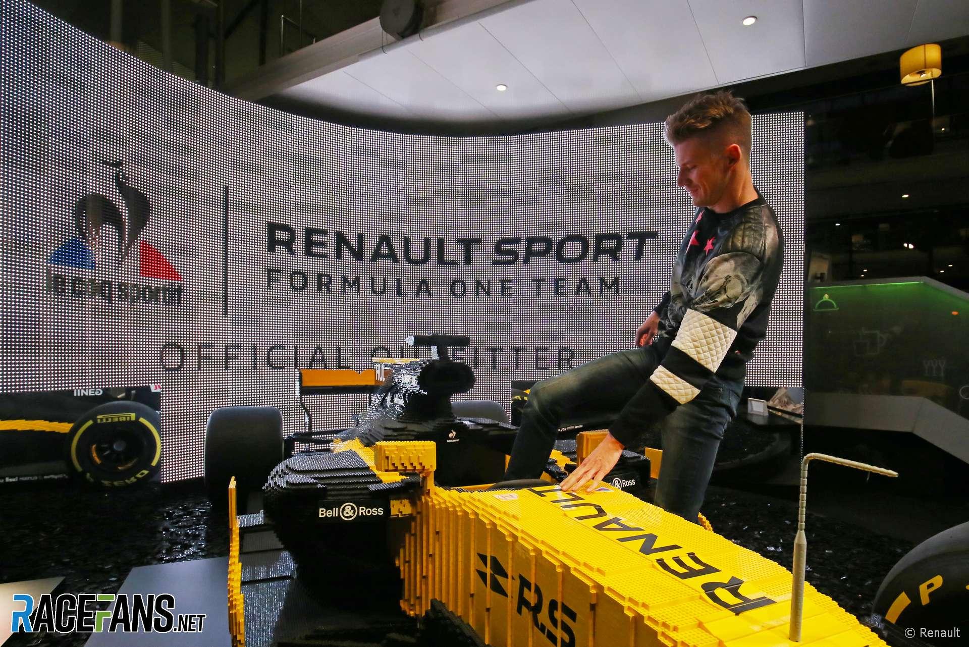 Nico Hulkenberg, Lego Renault F1 car, 2018