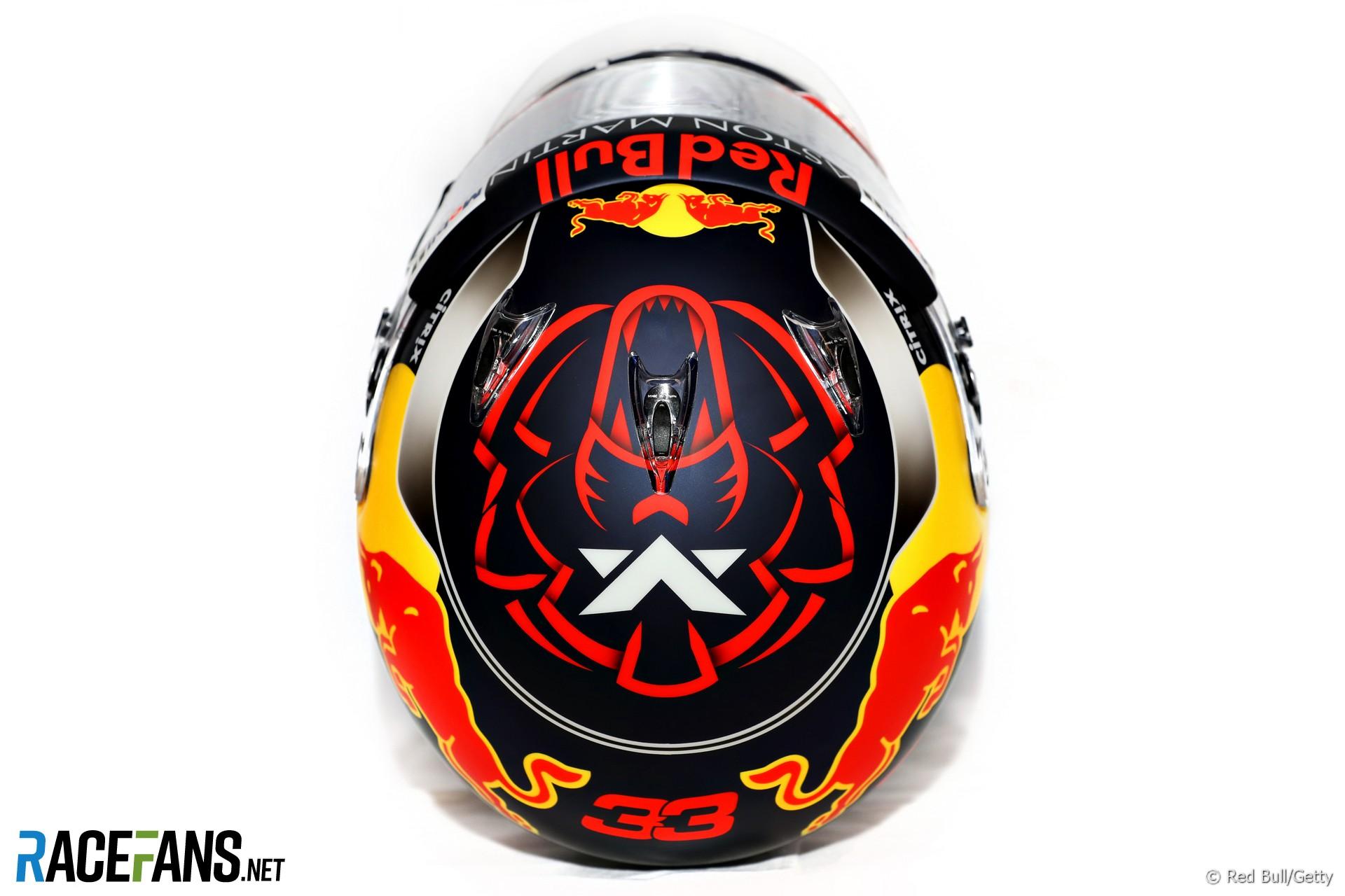 Max Verstappen, Red Bull, helmet, 2018