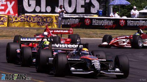 Roberto Moreno, Christian Fittipaldi, Juan Pablo Montoya, Cristiano da Matta, CART IndyCar, Portland, 2000