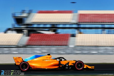 Fernando Alonso, McLaren, Circuit de Catalunya, 2018