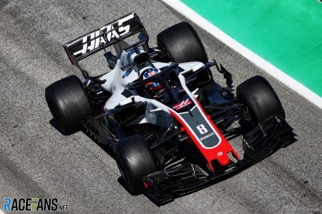Romain Grosjean, Haas, Circuit de Catalunya, 2018