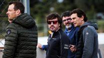 Alexander Wurz, Fernando Alonso, Pedro de la Rosa, Circuit de Catalunya, 2018