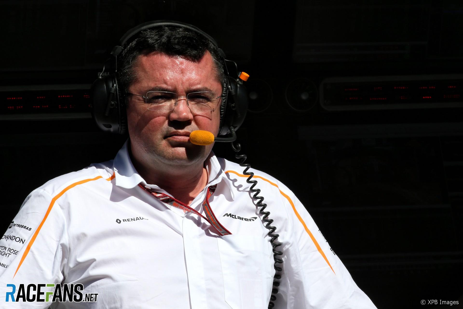 Eric Boullier, McLaren, Albert Park, 2018