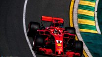 Vettel leads Ferrari one-two after flying lap at end of drying session