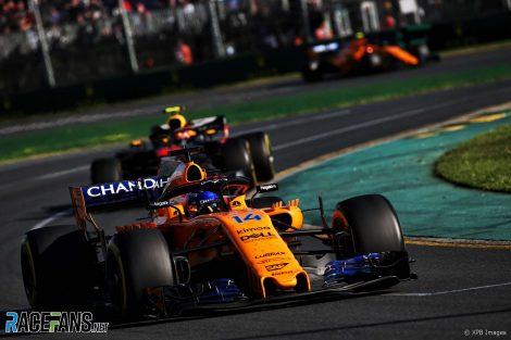 Fernando Alonso, McLaren, Albert Park, 2018