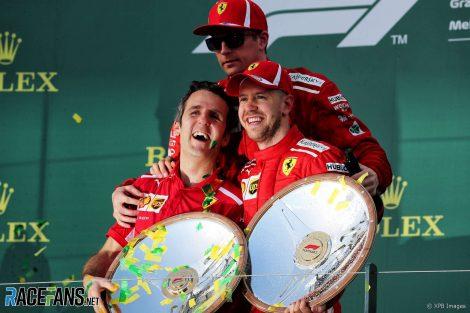 Inaki Rueda, Sebastian Vettel, Kimi Raikkonen, Ferrari, Albert Park, 2018